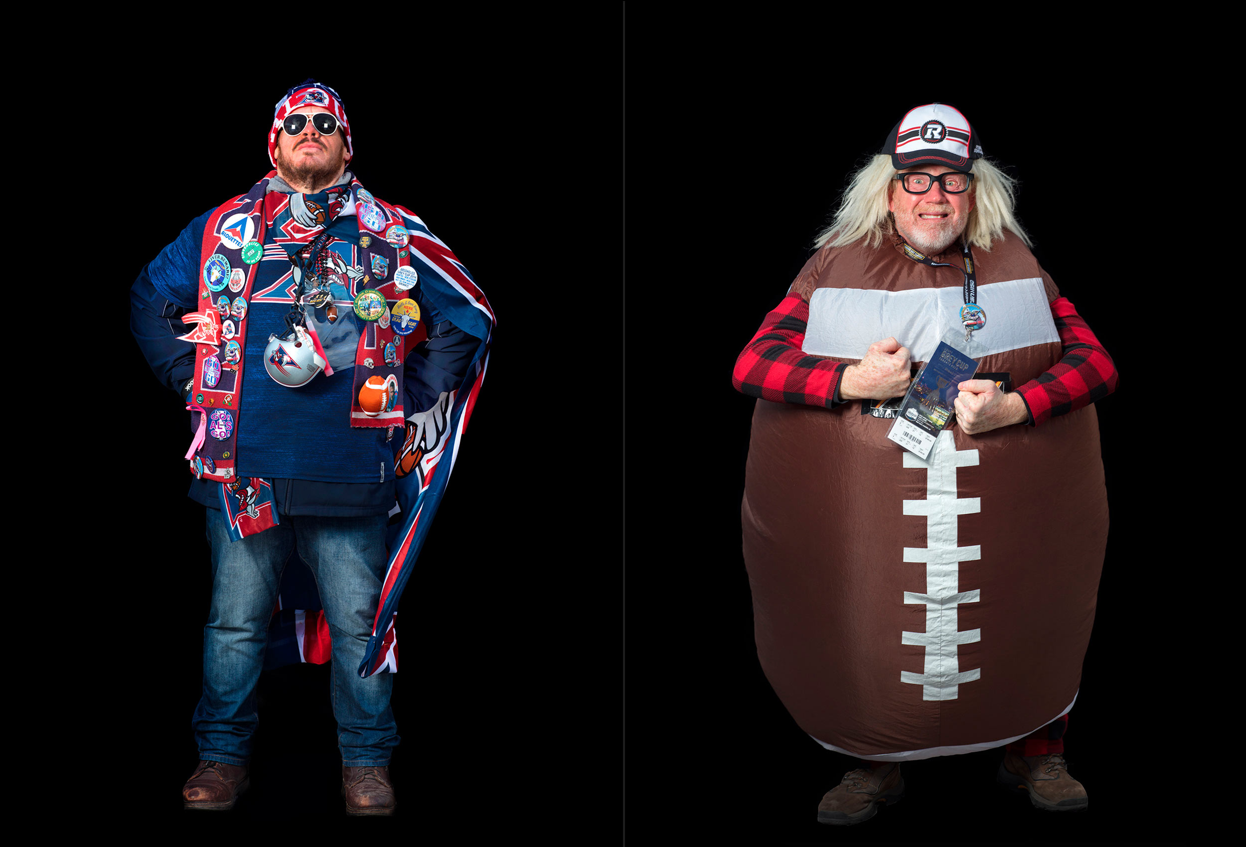 unique photos of cfl superfans taken in toronto during the grey cup