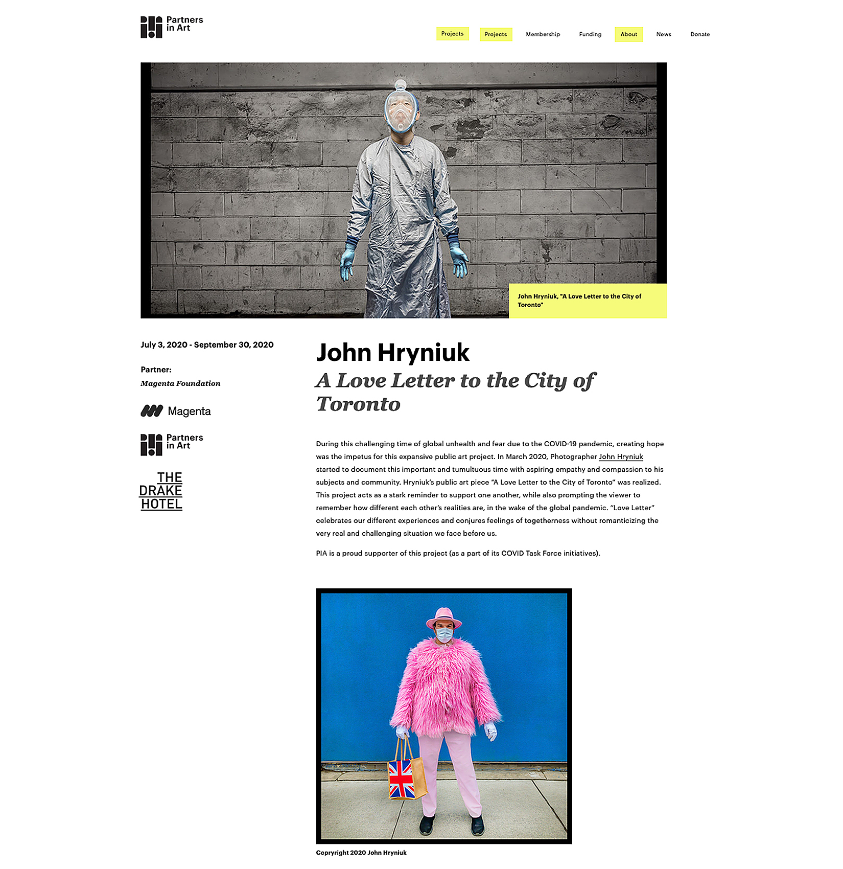 Partners in Art features John Hryniuk Photography