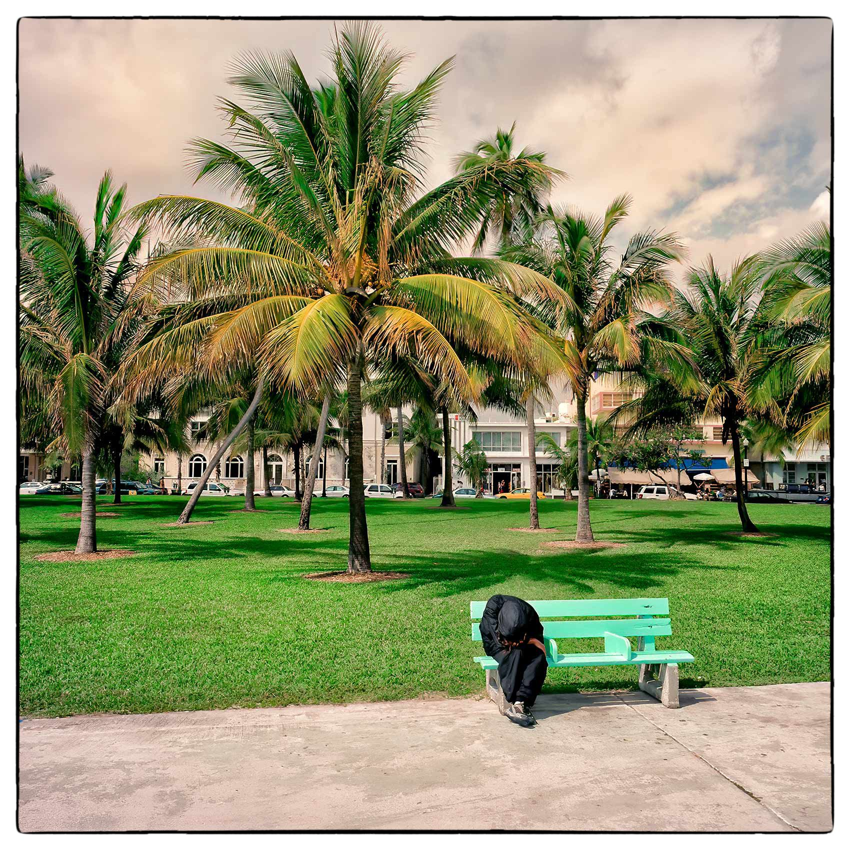 a-homeless-man-sits-on-a-bench-amongst-the-green-pastel-beauty-of-miami-beach