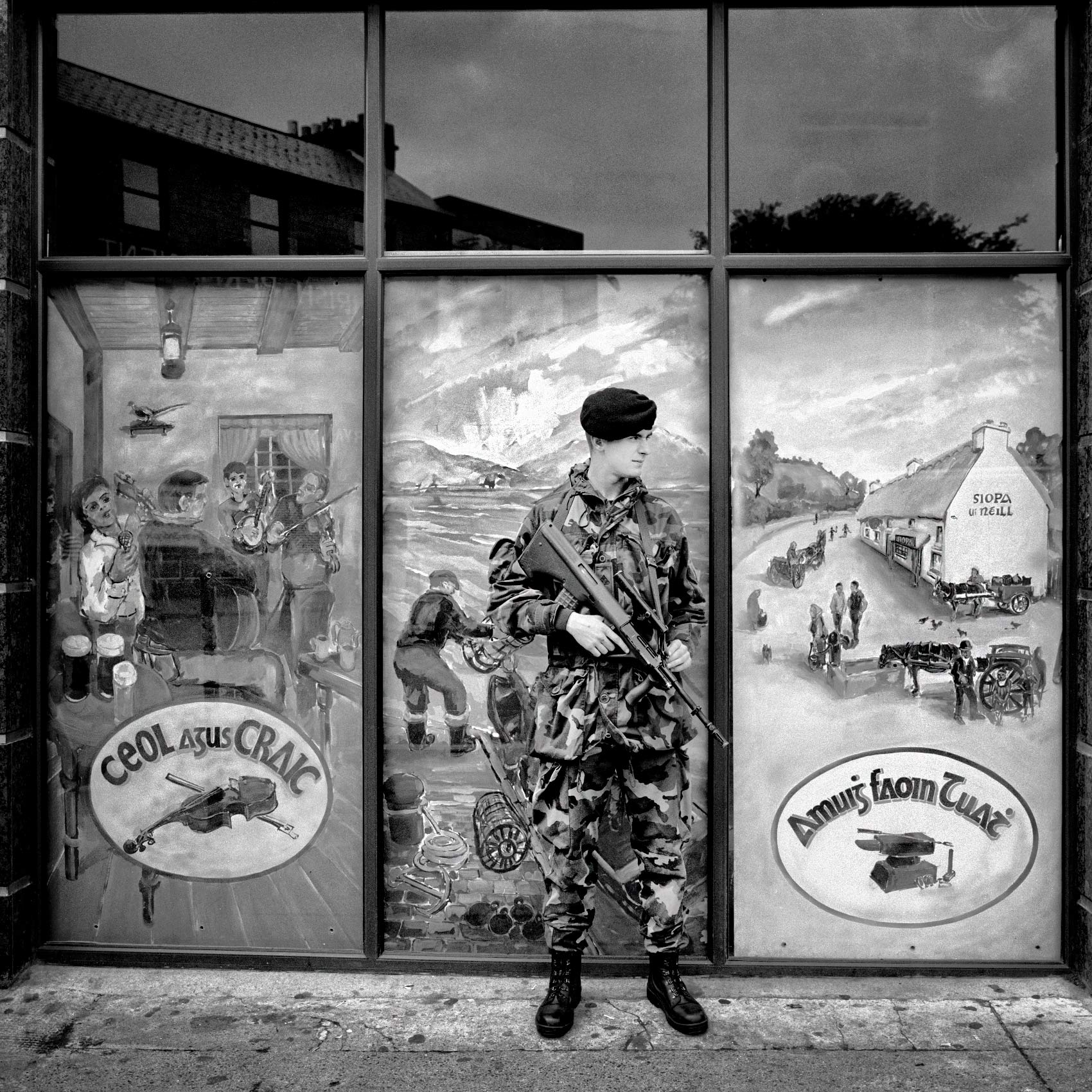 a-irish-soldier-stands-guard-outside-a-bank-in-galway-ireland