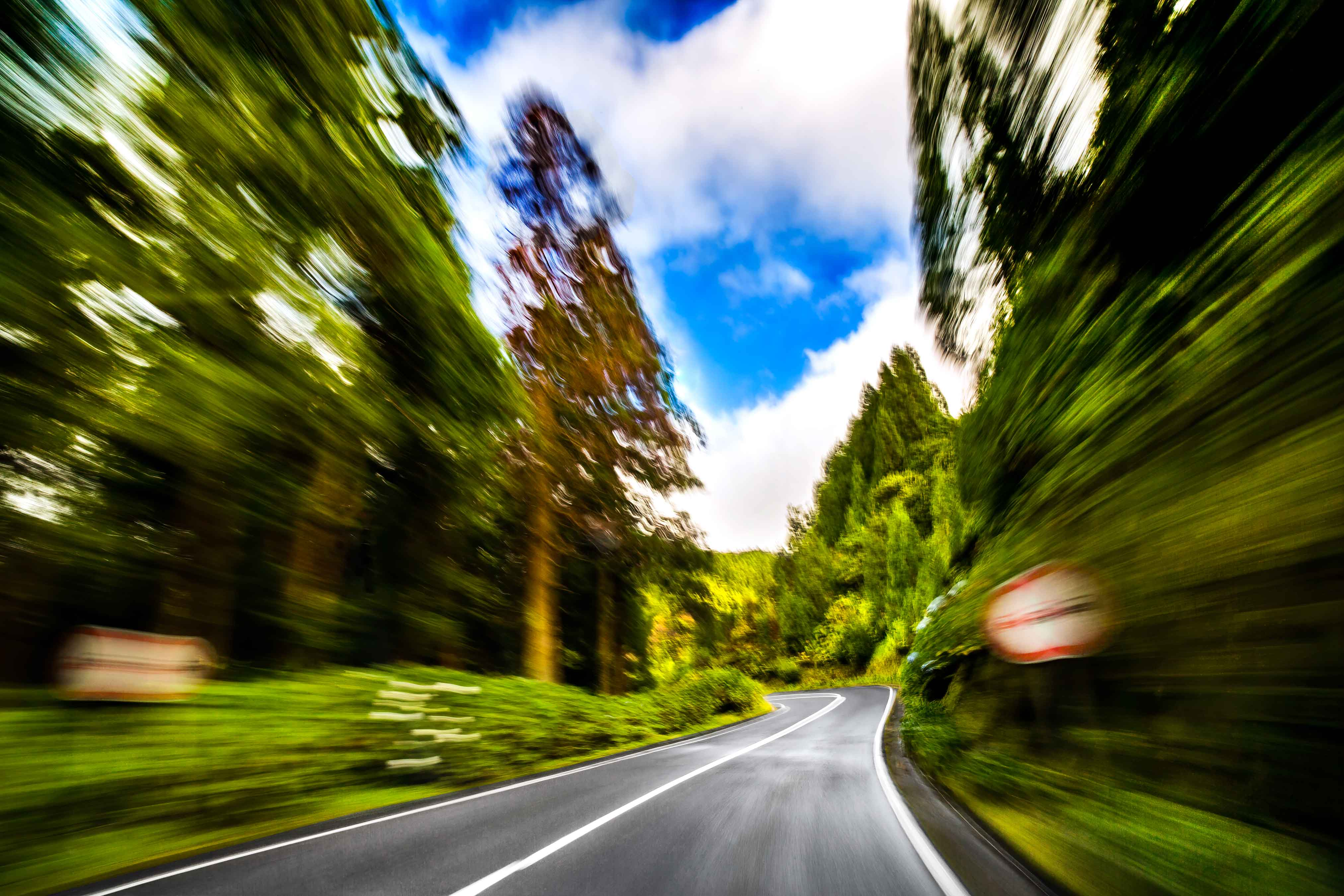 a-photo-taken-with-a-slow-shutter-speed-on-a-highway-in-the-azores-on-sao-miguel-island