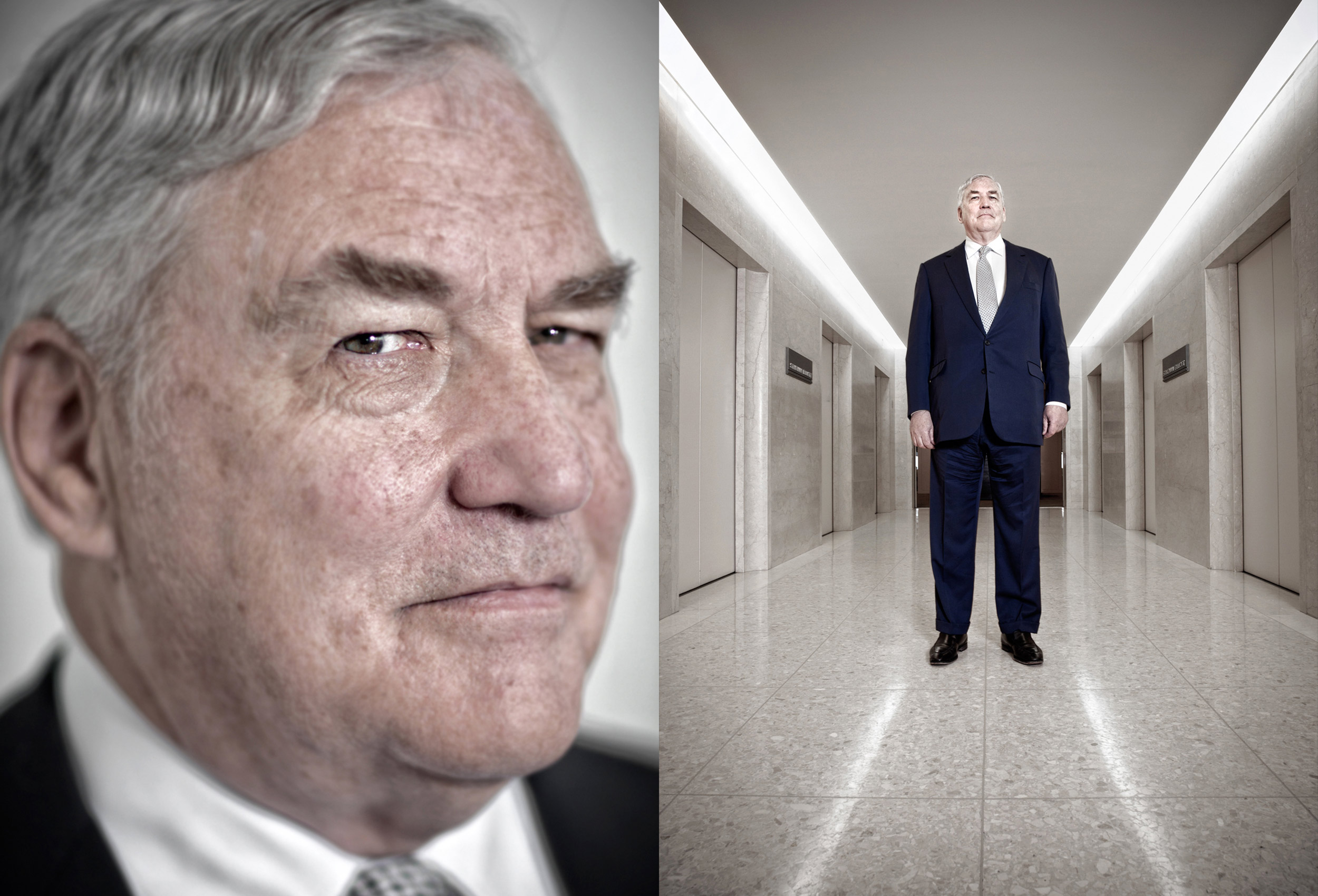 a business portrait of lord conrad black of crossharbour taken in toronto