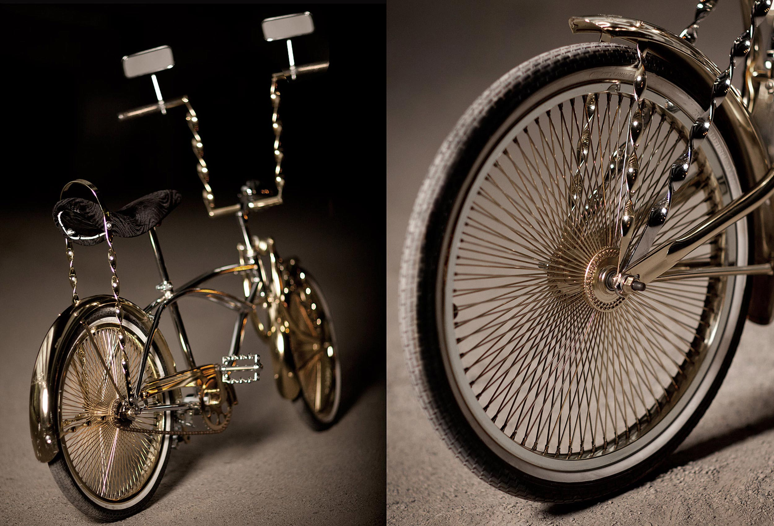 a cool photo of a custom gold plated toronto trick bike