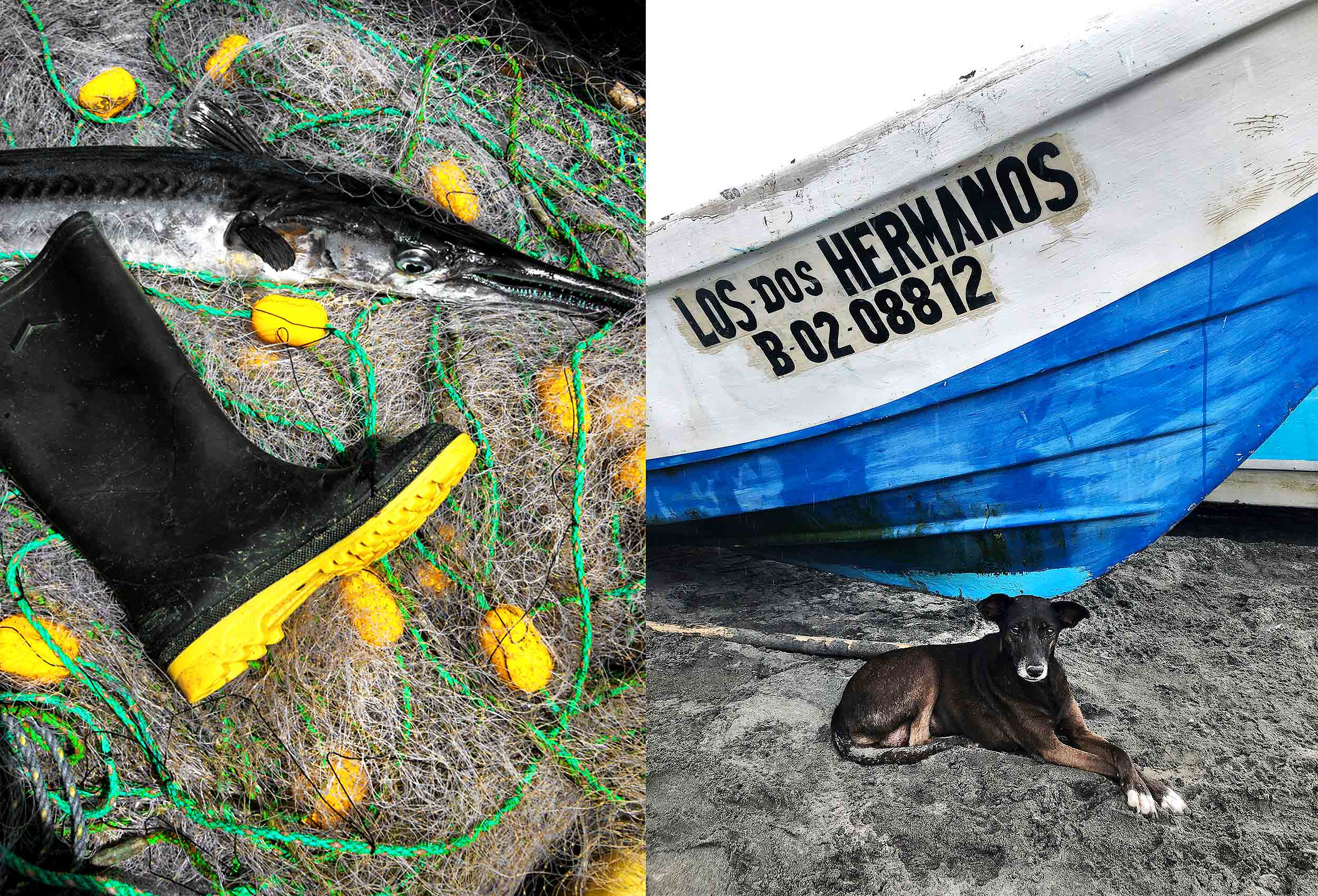 fishing-boats in-mompiche-ecuador-by-famous-travel-photographer-John-Hryniuk
