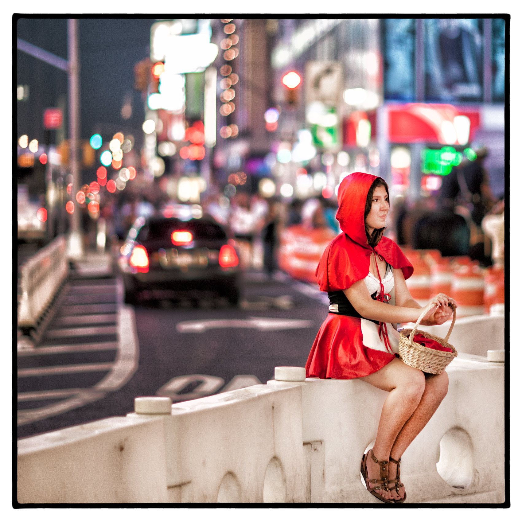a-woman-dressed-as-little-red-riding-hood-in-new-yorks-times-square
