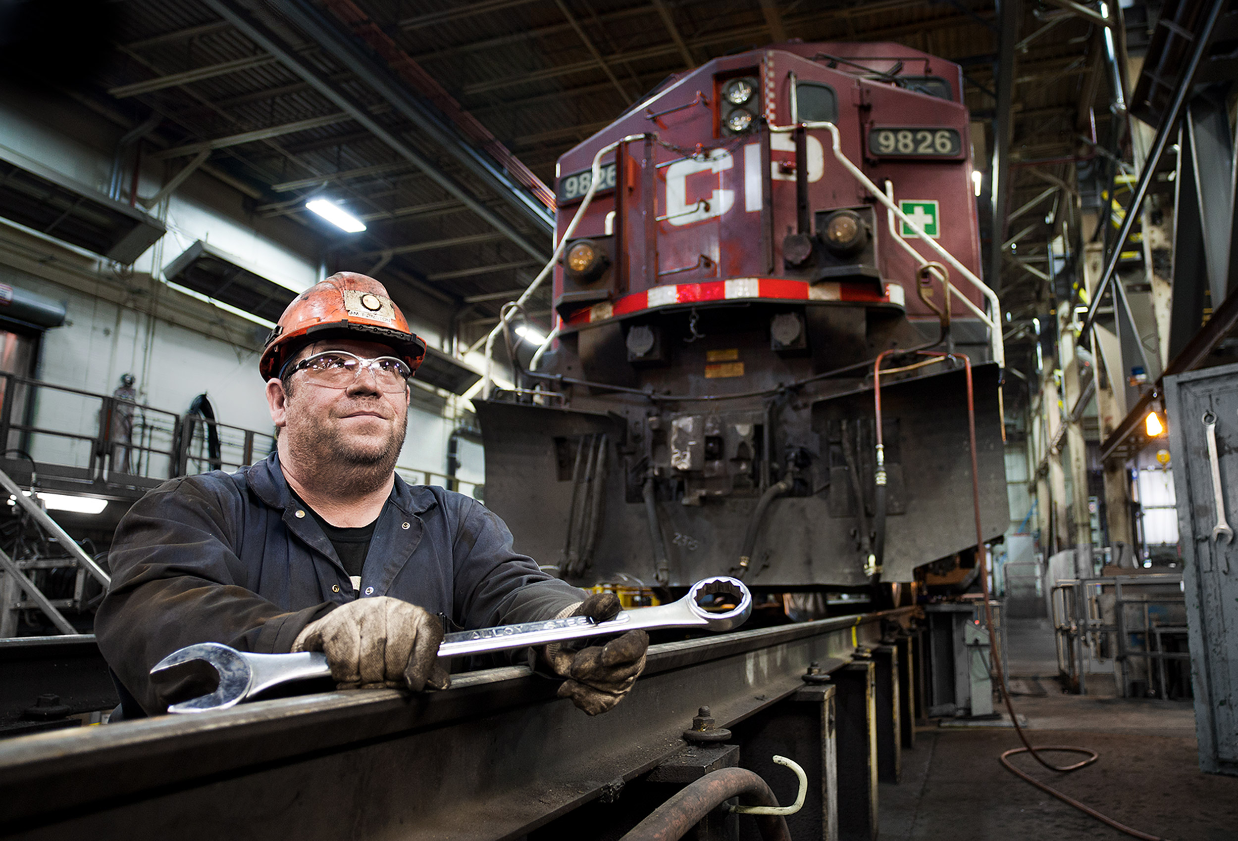 a portrait of a cp rail worker at the odgen road repair facility in calgary