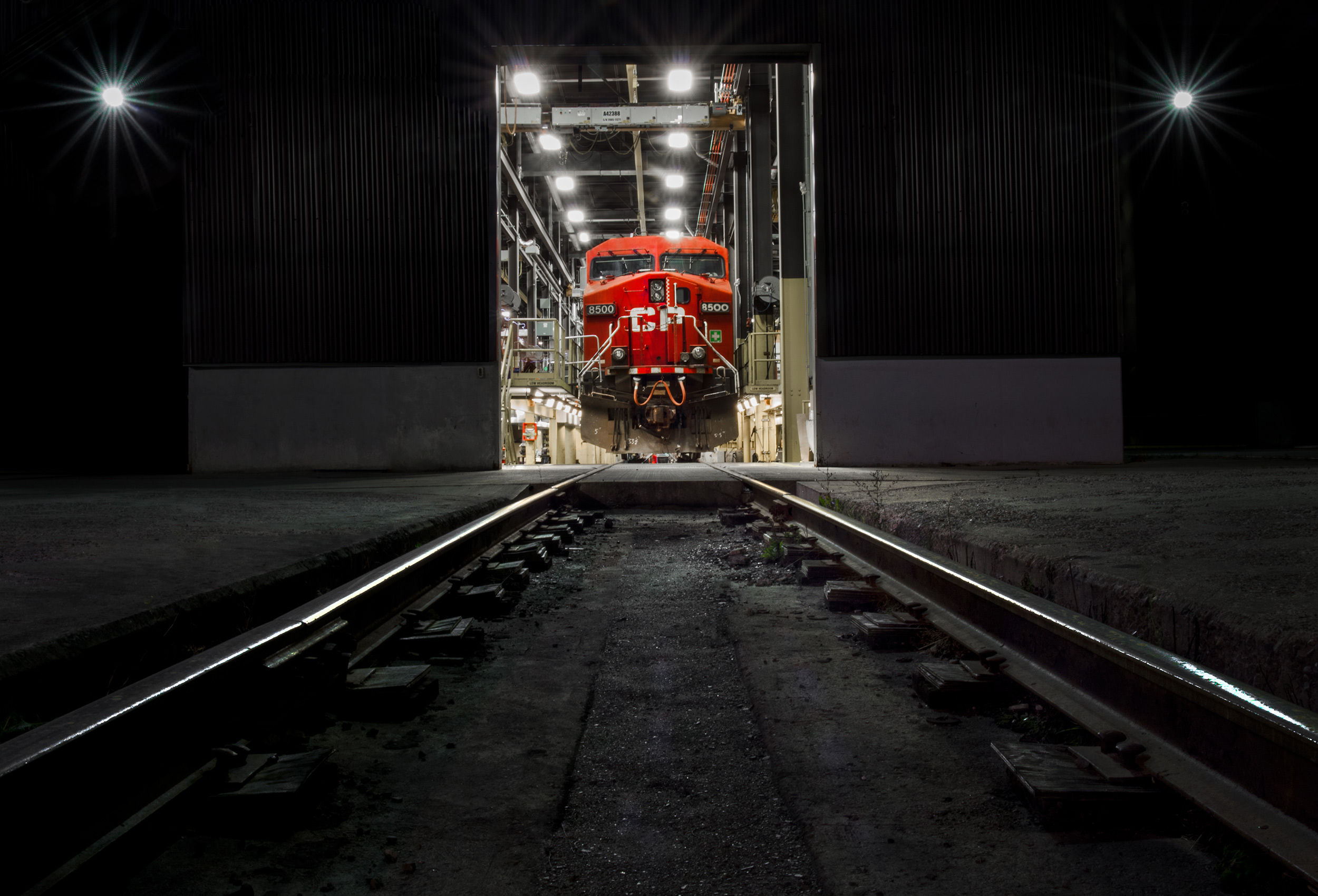 toronto industrial photographer cp rail locomotive